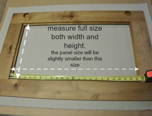 measuring glass for cabinet doors – DIY