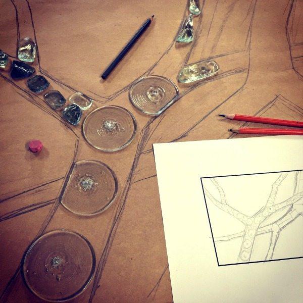 sketch custom stained glass window