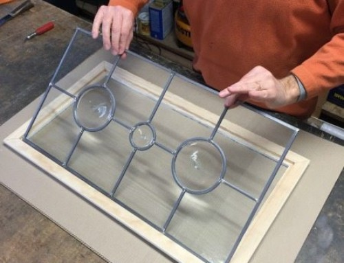 Installing Glass Inserts in Cabinet
