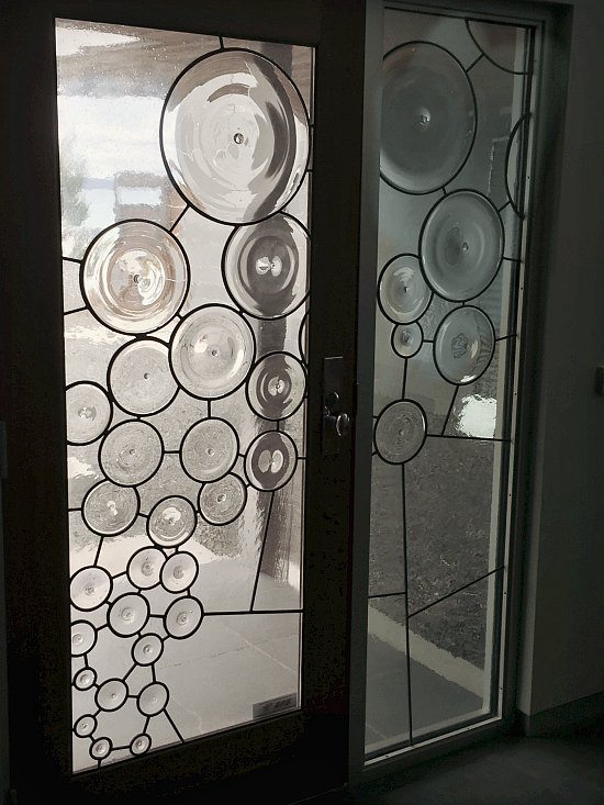 glass front entry door