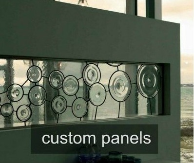 custom leaded glass panels