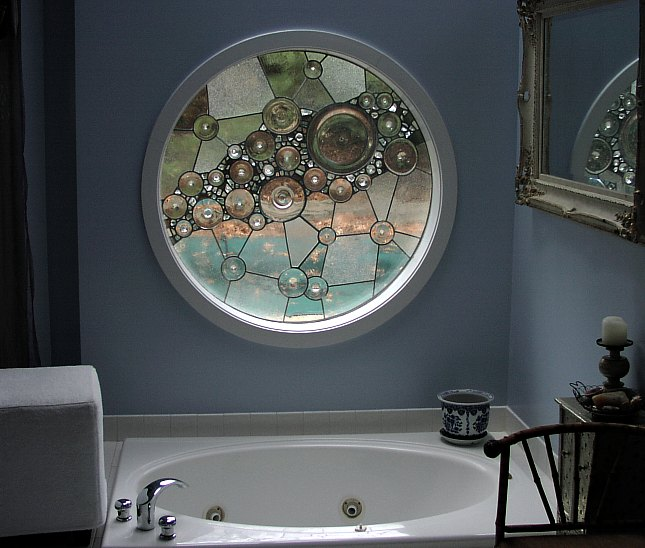 Stained Glass for Bathroom Window