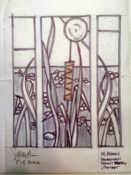 detail stained glass door