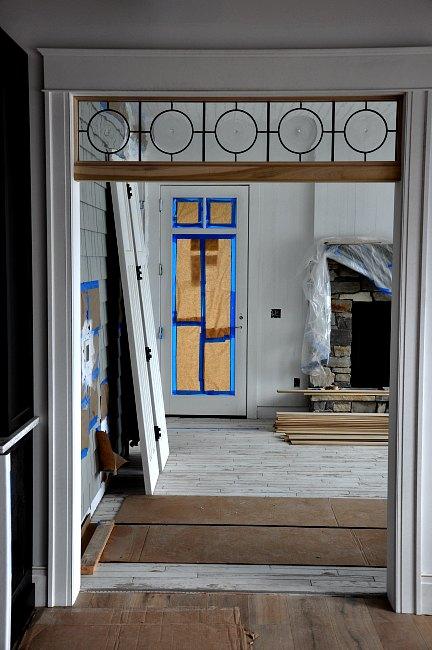leaded glass transom window