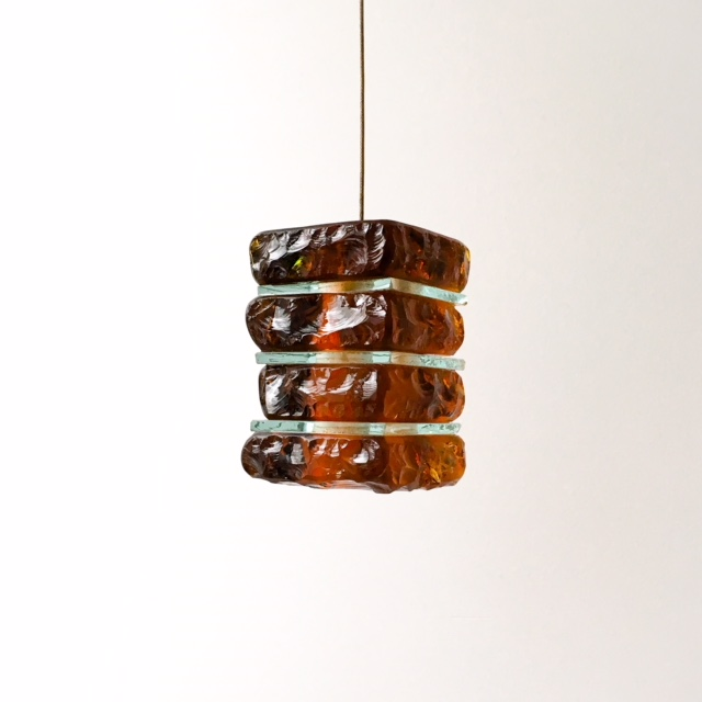 mini amber glass pendant light