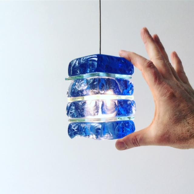 mini glass pendant
